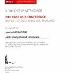 INTO Conference Certificate