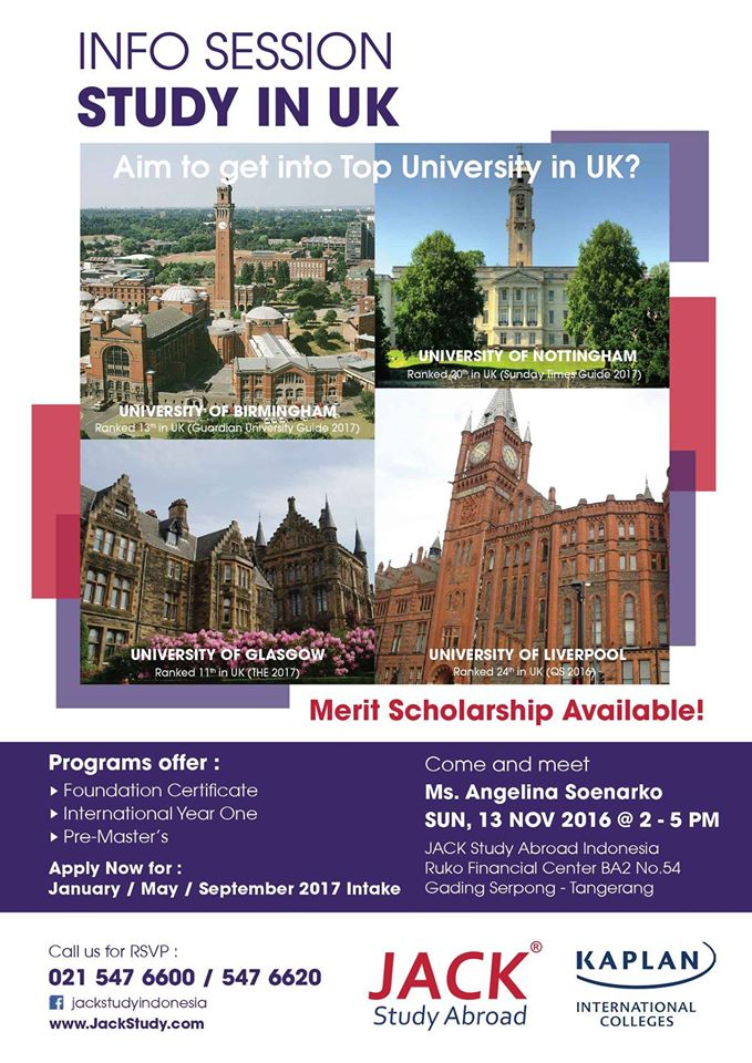 info session study in UK