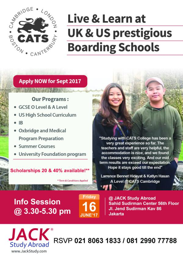 CATS college info session 2017