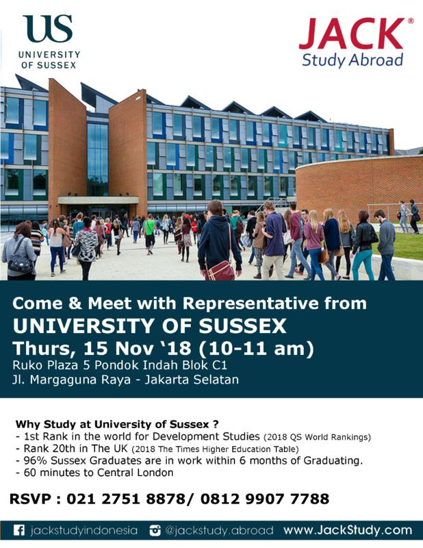 Sussex info session 2018