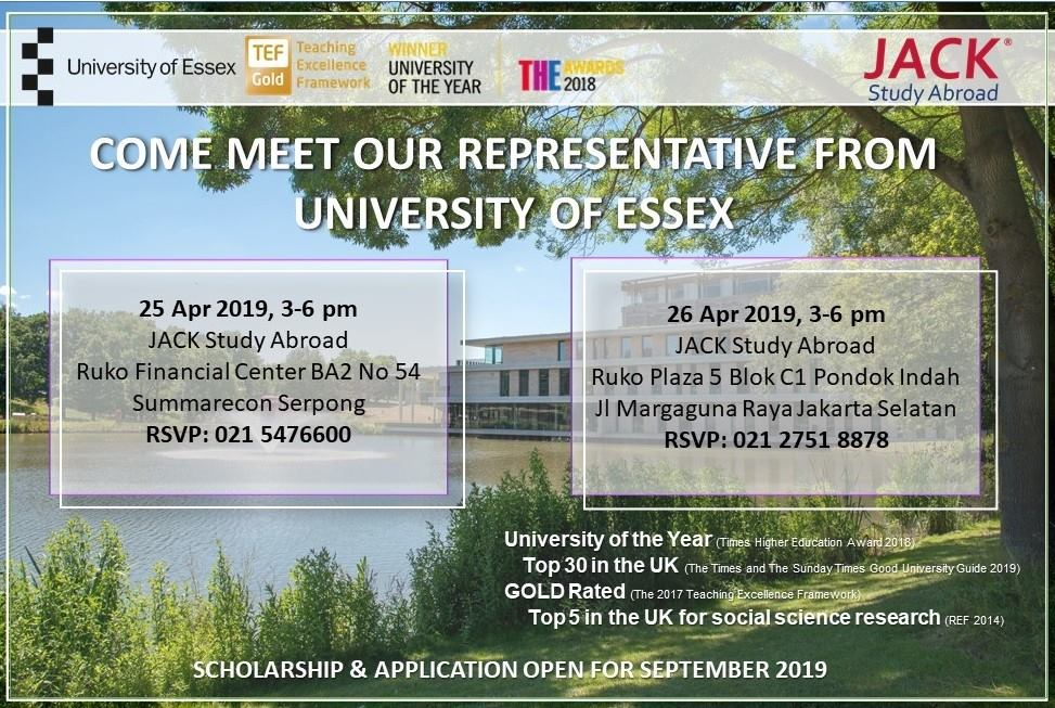 Come Meet Representative from University of Essex