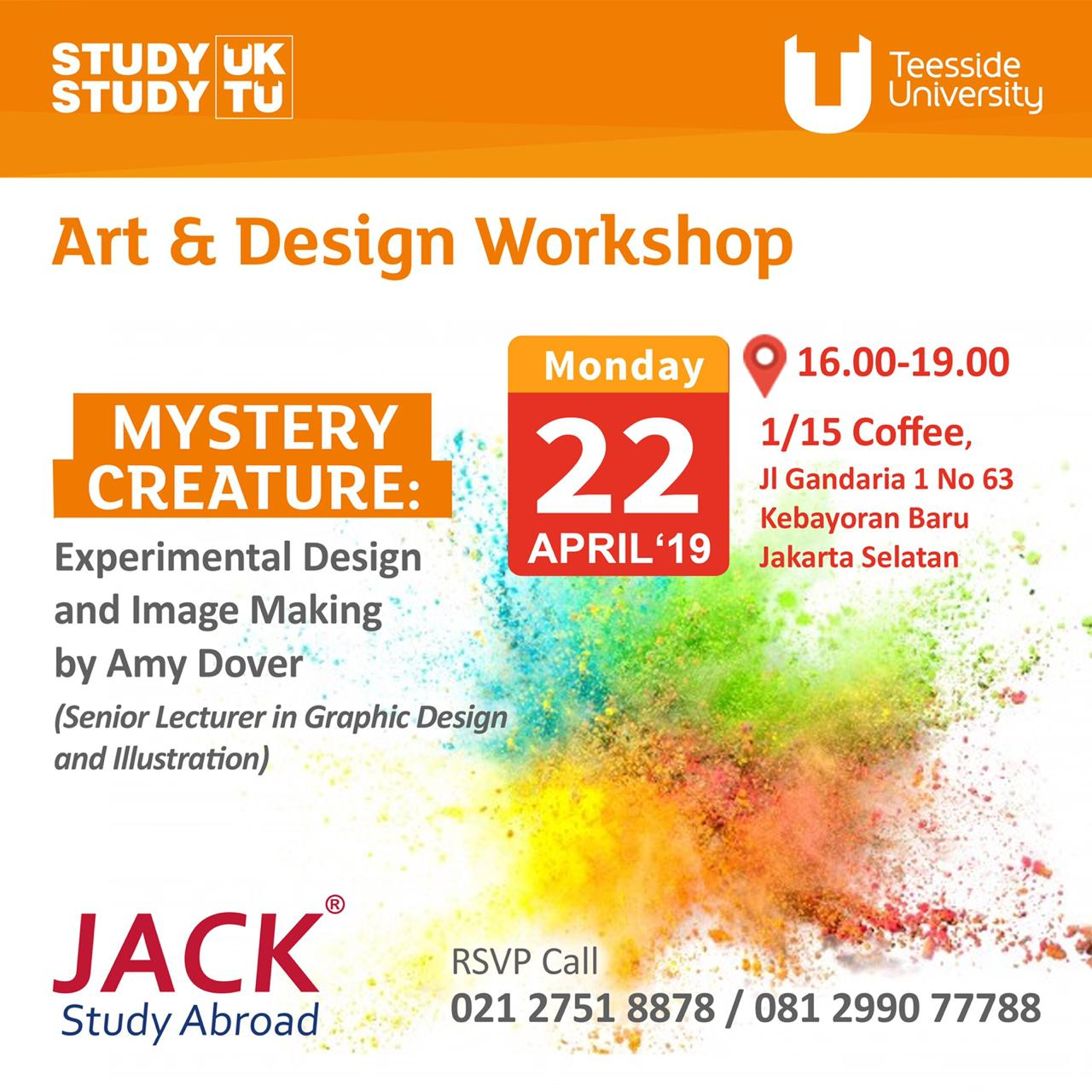 art & design workshop with teesside university
