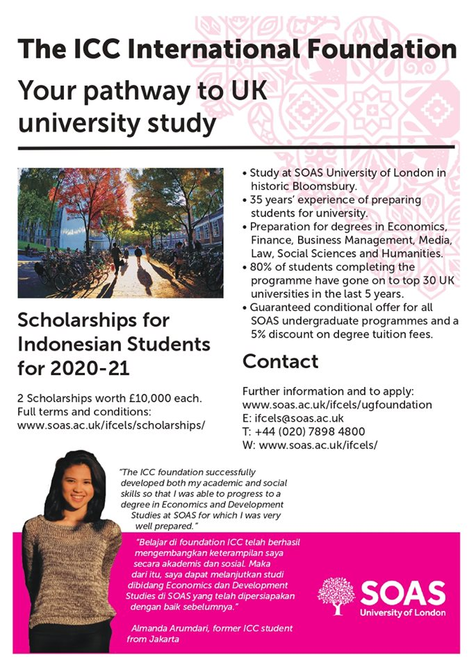 The ICC International Foundation scholarship