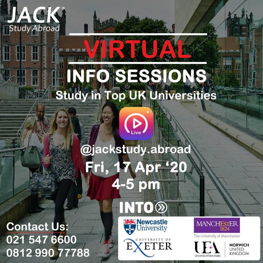 Live Info Session Study in UK with INTO